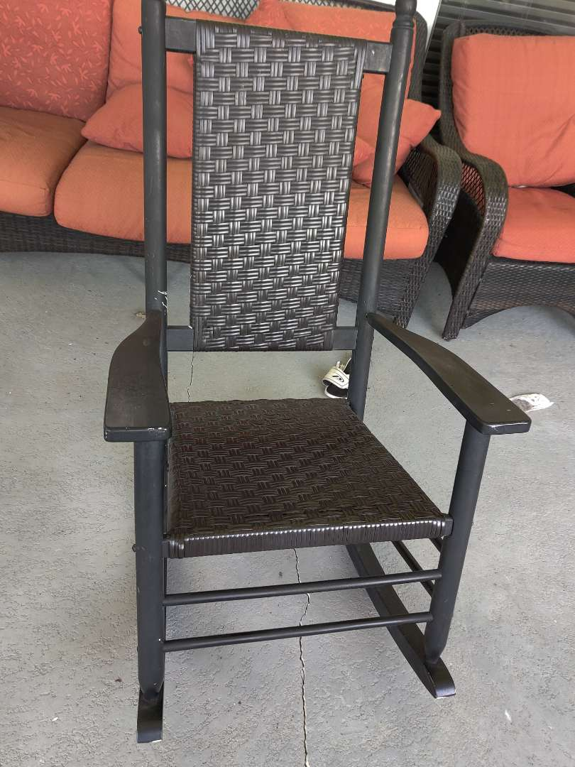 319 317 very nice porch rocker rocking chair composition material