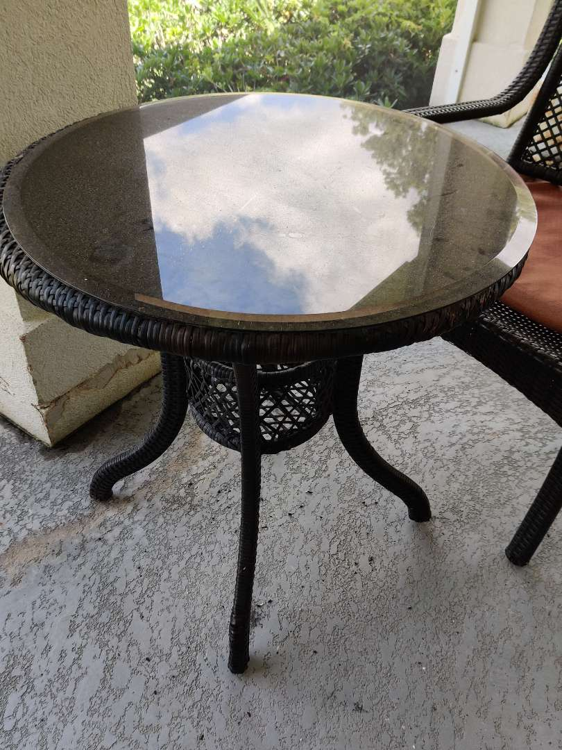 320 glass top patio table beveled glass