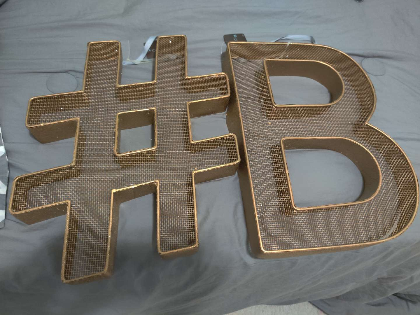 338 # and letter B 15 inches metal