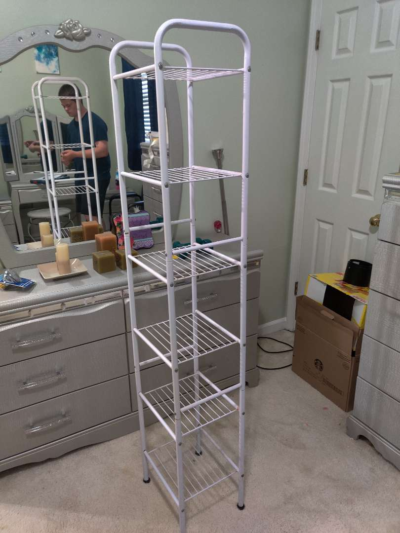 339 metal display shelf 65 inches tall 11 inches wide