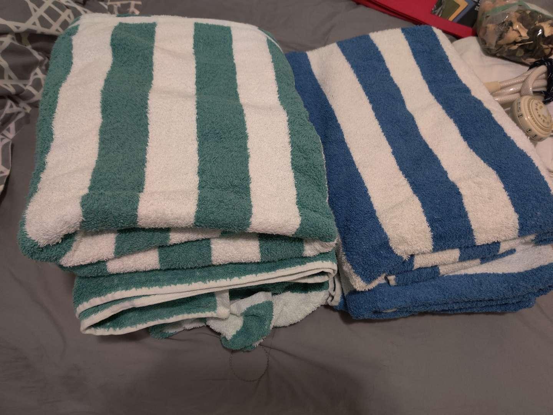350 lot of seven beach towels
