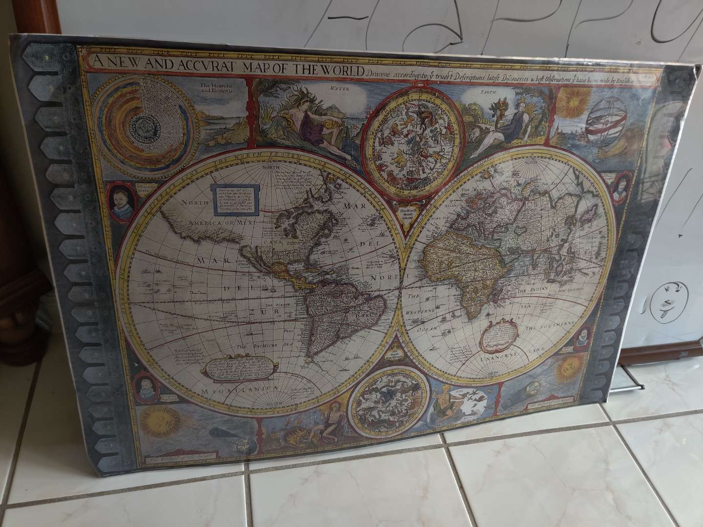 355 globe picture unframed 36x24 the whole world