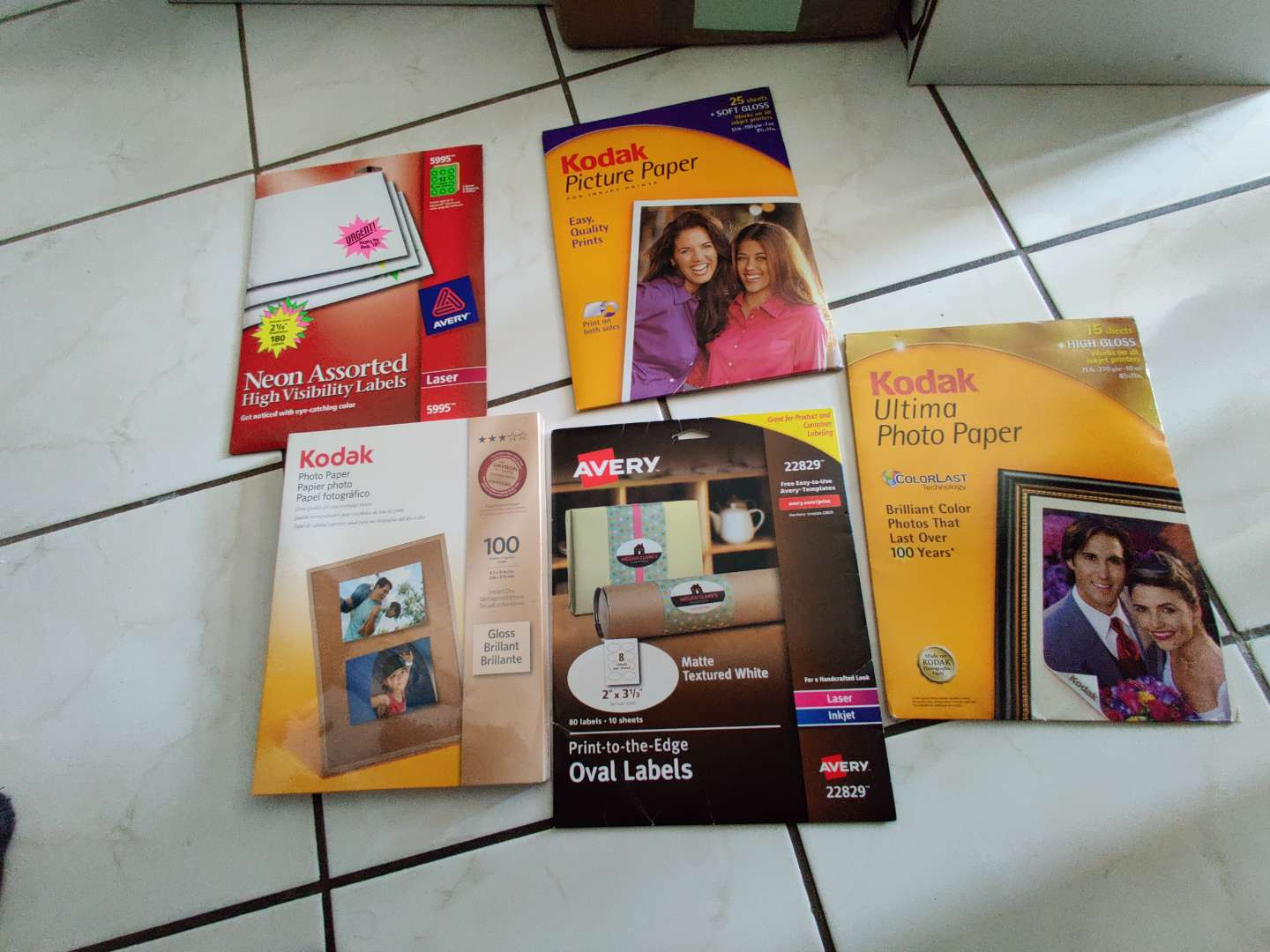 367 5 packs of photo paper