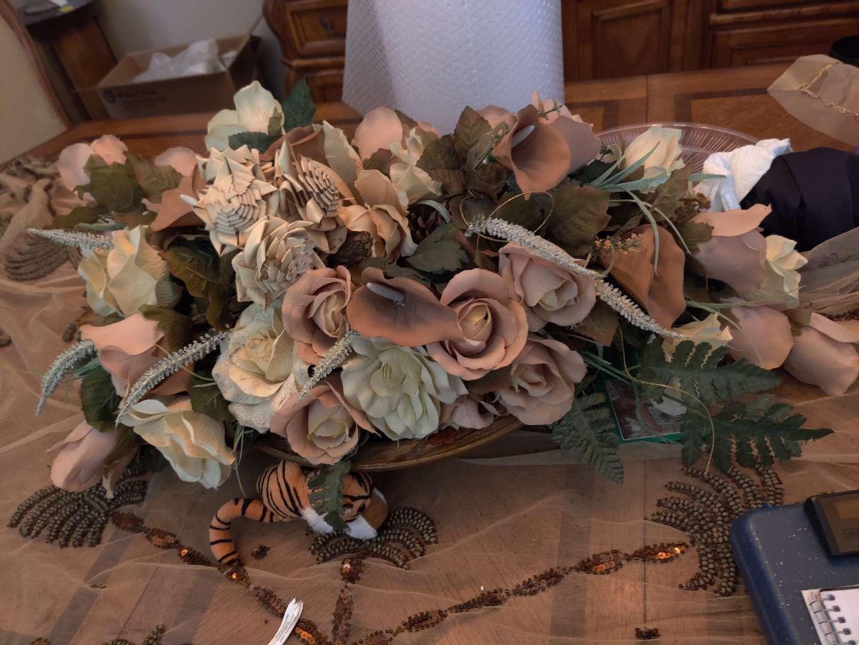 375 faux artificial flower arrangement