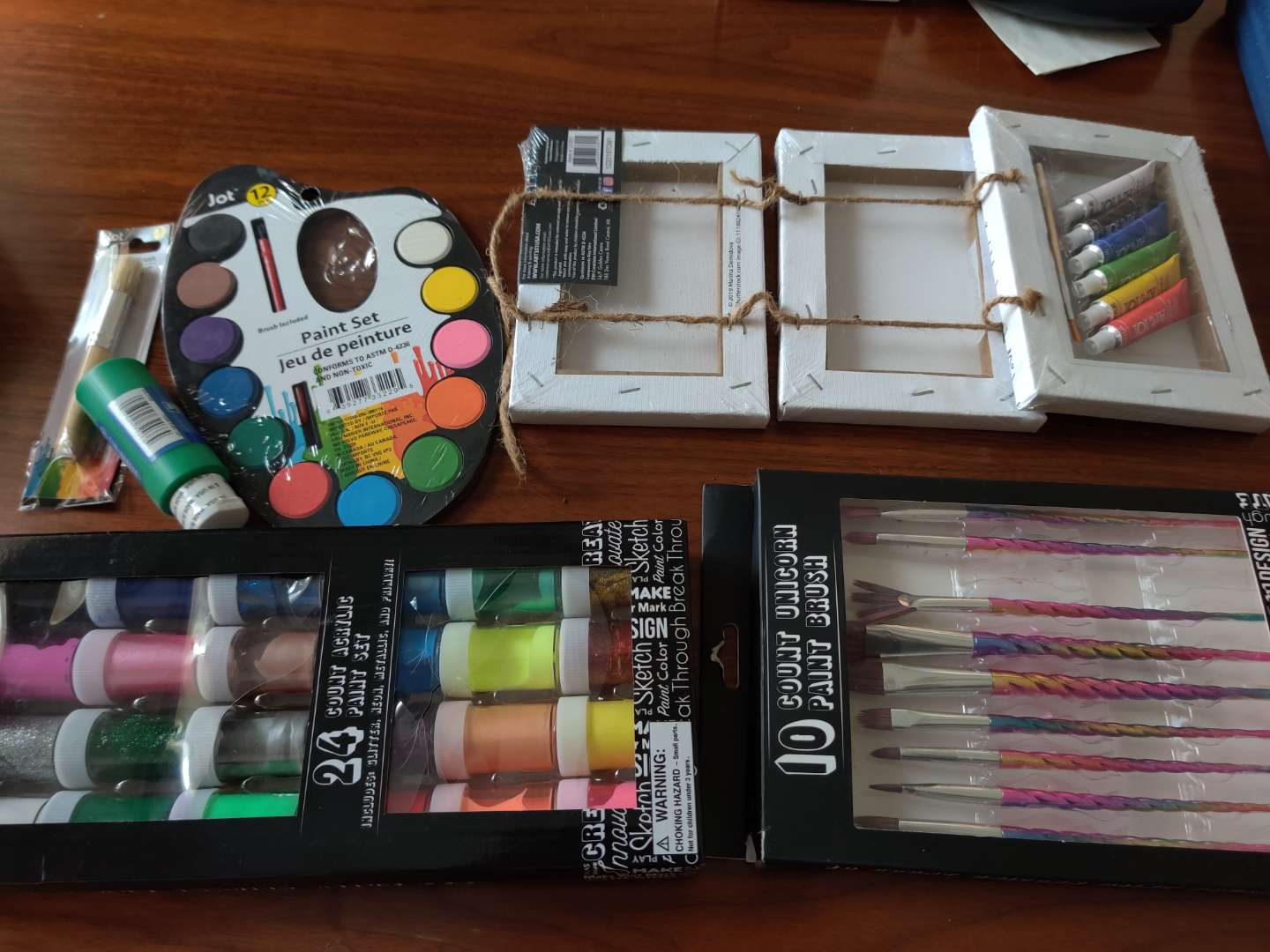 377 lot of art supplies brushes paints and more