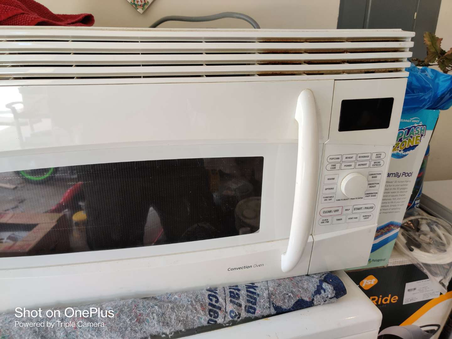 393 general electric under the counter microwave convection oven