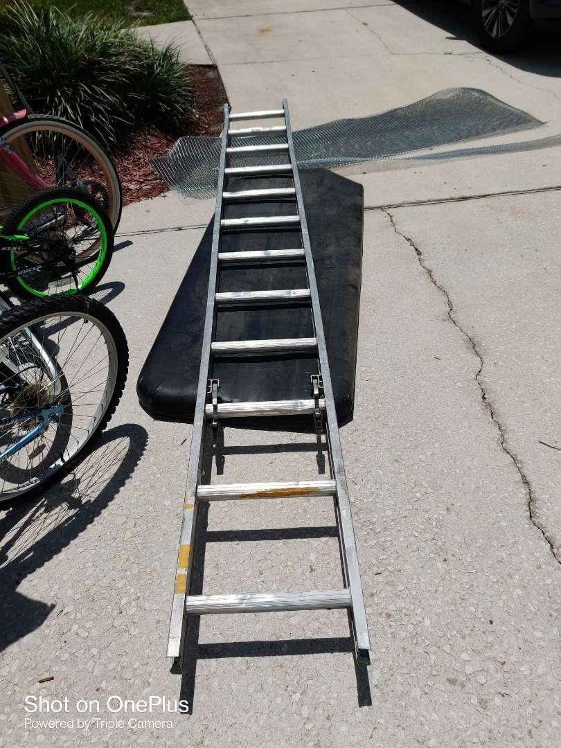 410 12 ft single aluminum ladder part of an extension