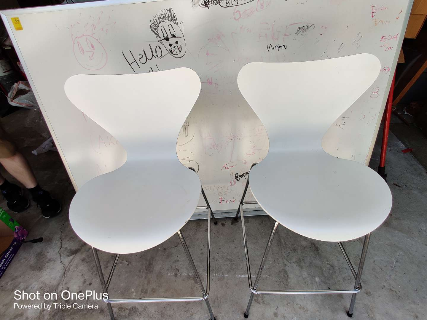418 pair FRITZ HANSEN LANCOME COSMETIC BAR STOOL /  HIGH CHAIR great condition