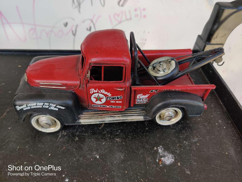 "435 metal Texaco tow truck nice decorator piece 13"" long"