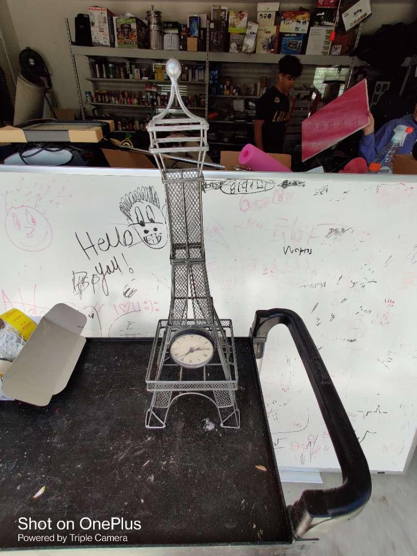 453 Paris Eiffel Tower clock 23 in tall