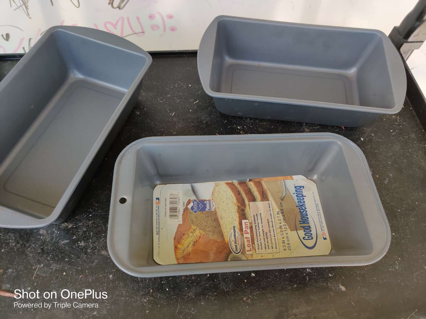 501 three 9.3 inch loaf pans