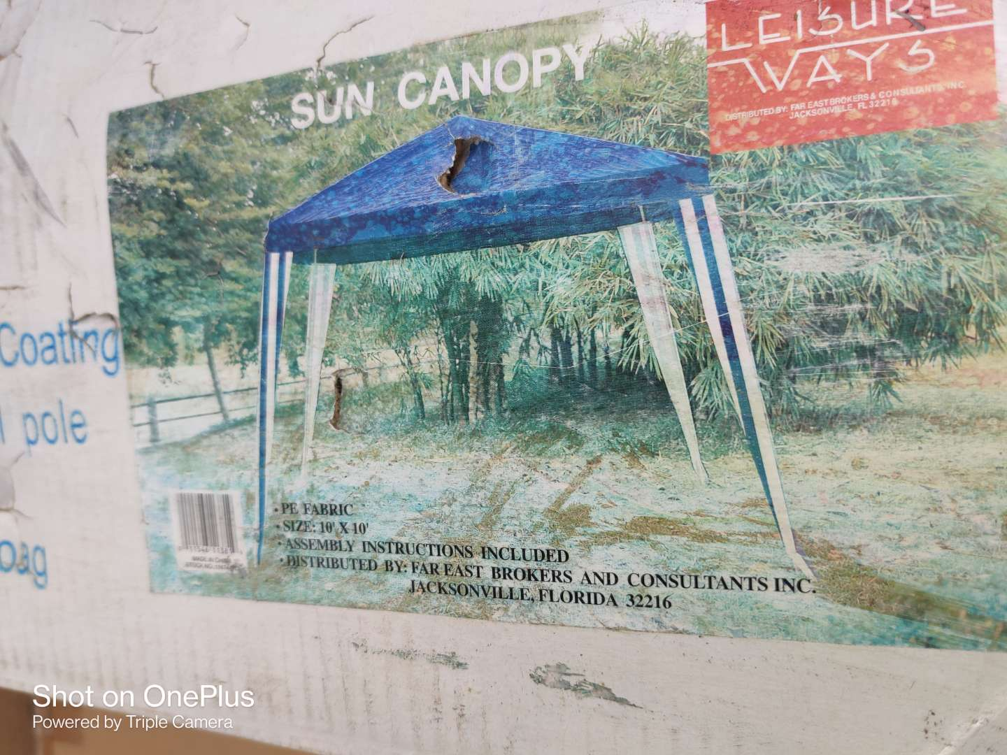510 son 10x10 ft canopy in box