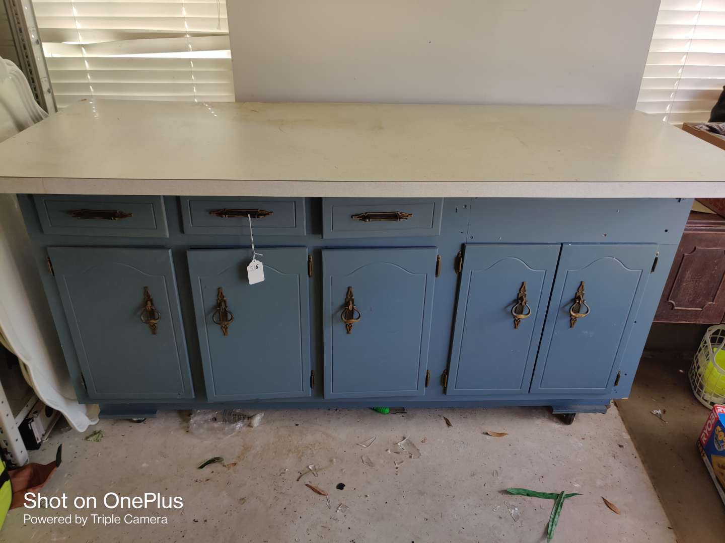 516 large work counter storage on rollers with drawers and doors 76 in wide 39 inches tall 31 inches deep