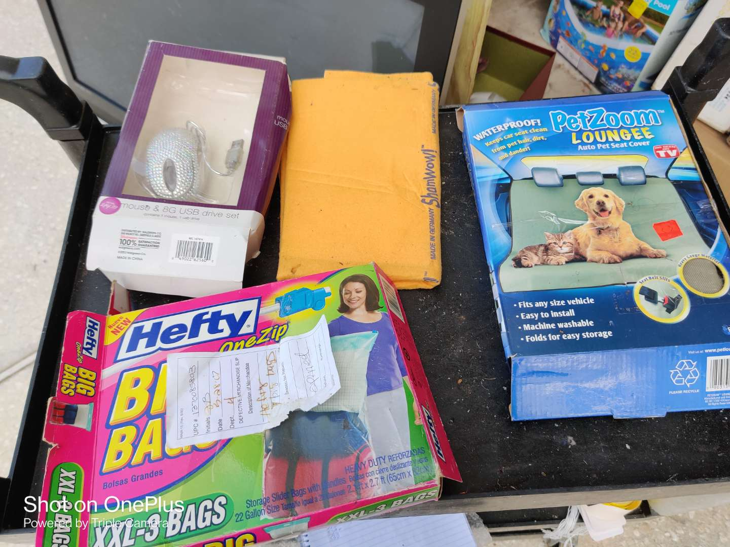 529 lots of four items shams hefty extra large bag computer mouse pet zoom bed
