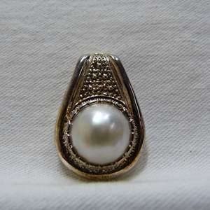 Lot # 180  Sterling Silver & faux pearl pendant
