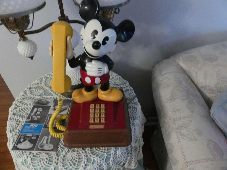 Lot #1 Deco-Tel Mickey Mouse Decorator Telephone Model TEIF 8000