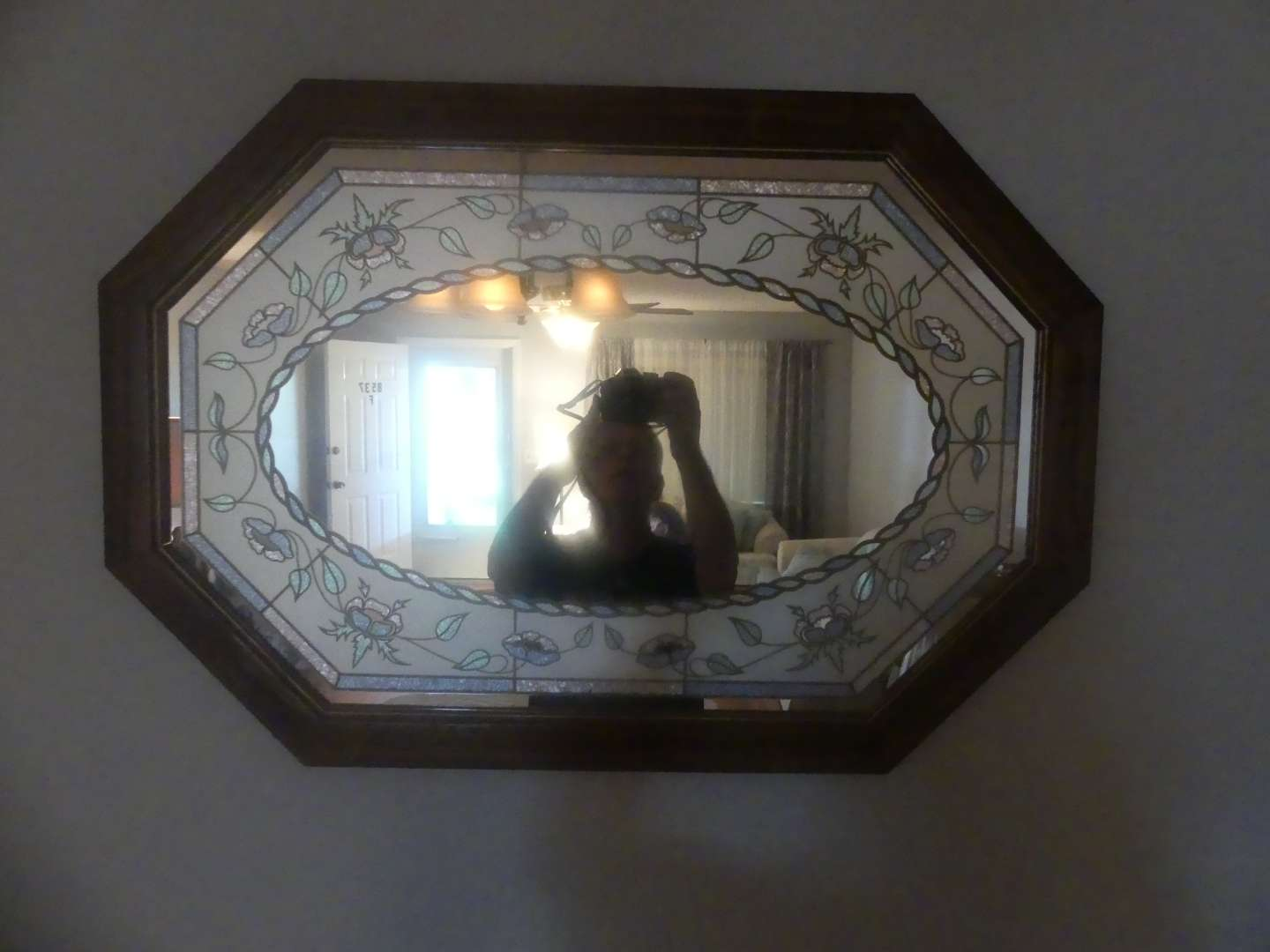 Lot #17 Tiffany Style Stained Glass Mirror
