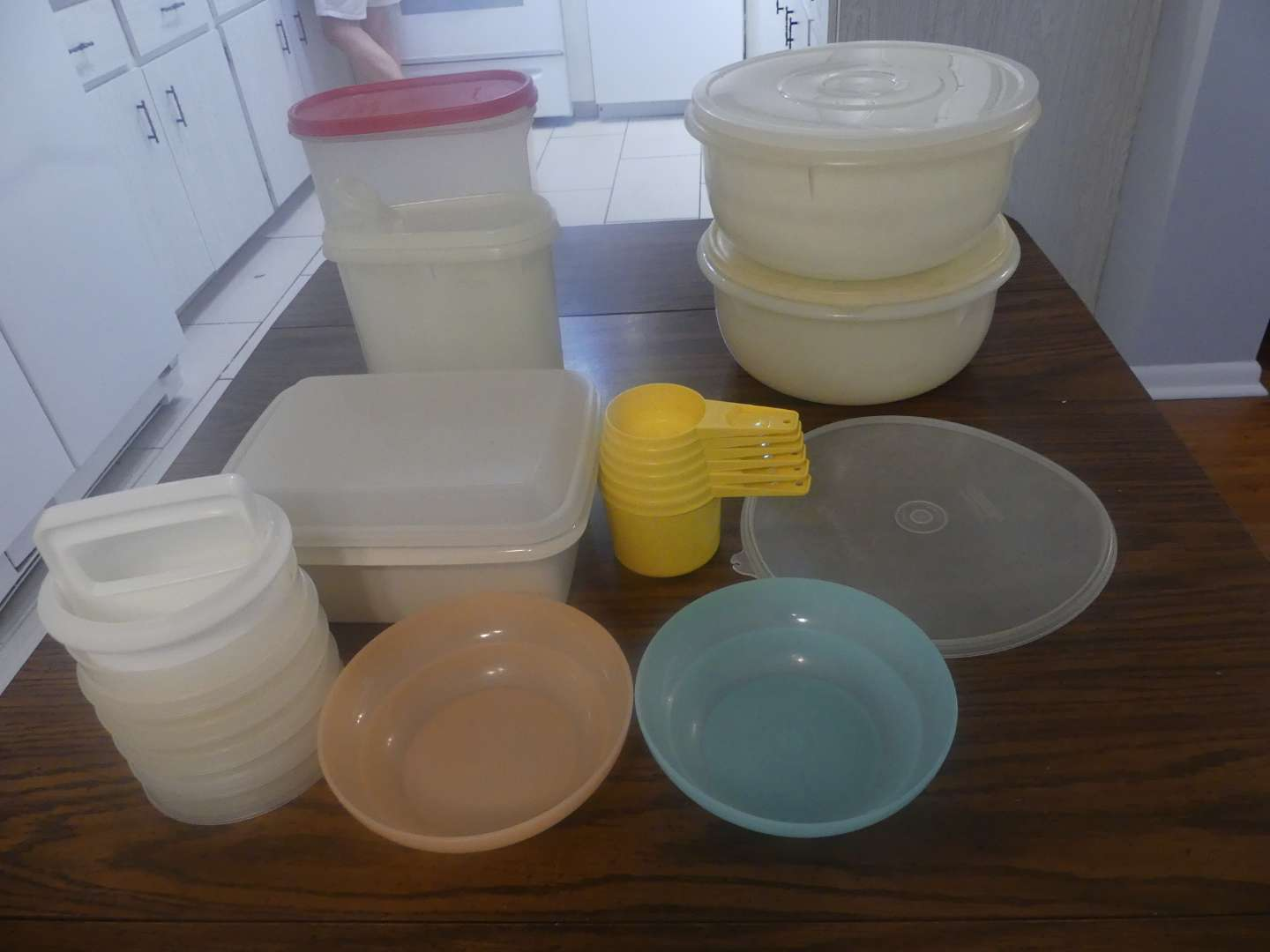 Lot #34 Large Lot of Tupperware Pieces with Additional Lid