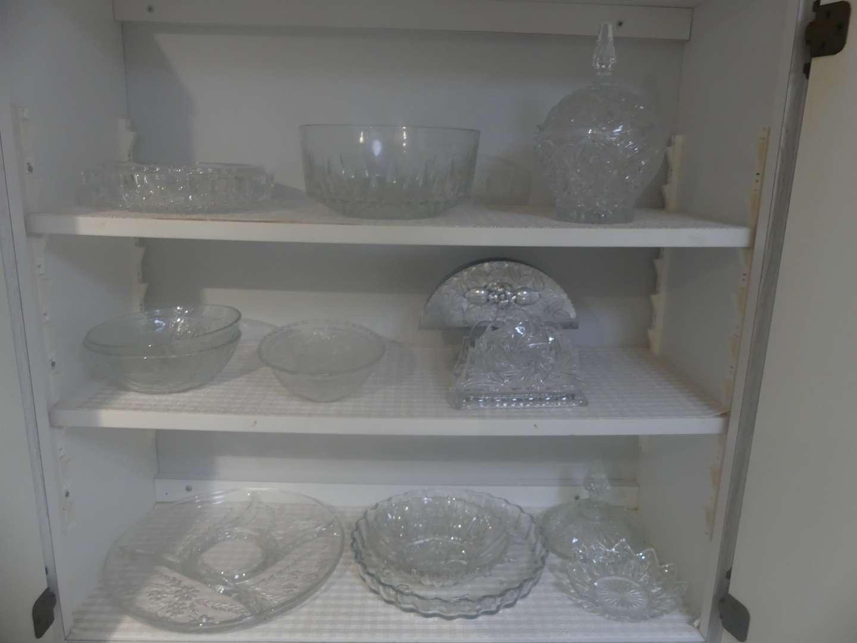 Lot #36 3 Shelves of Glassware