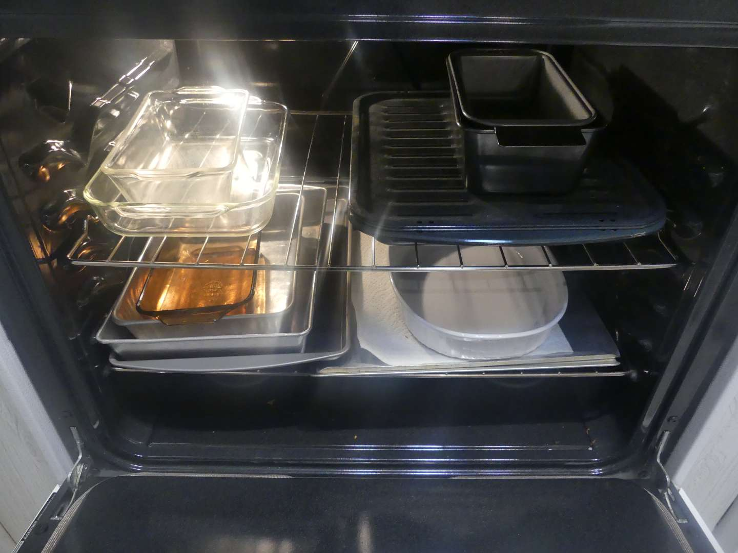 Lot #43 Oven Full of Pans - Oven Not Included