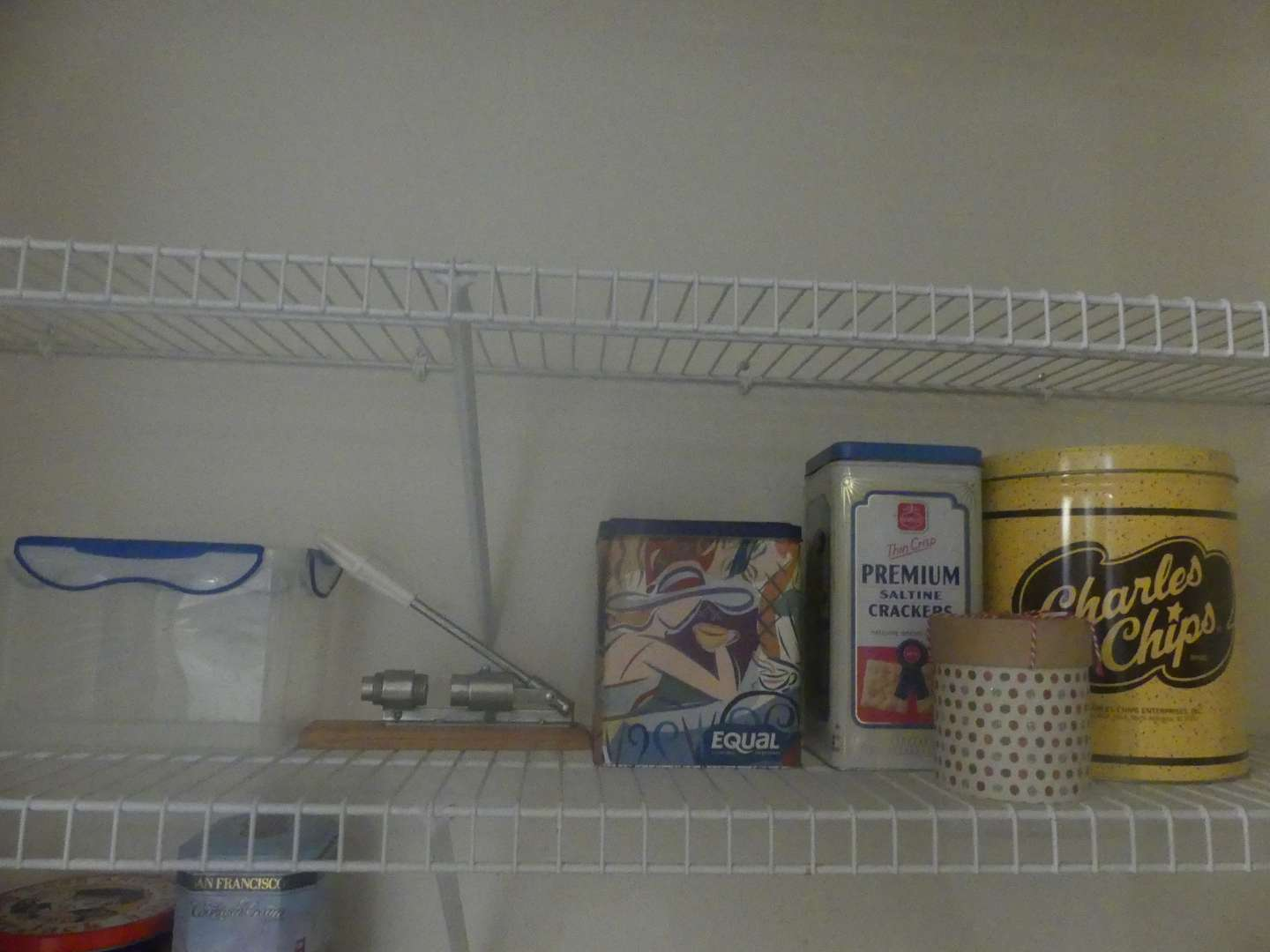Lot #58 Lot of Empty Decorative Tins and Pantry Items