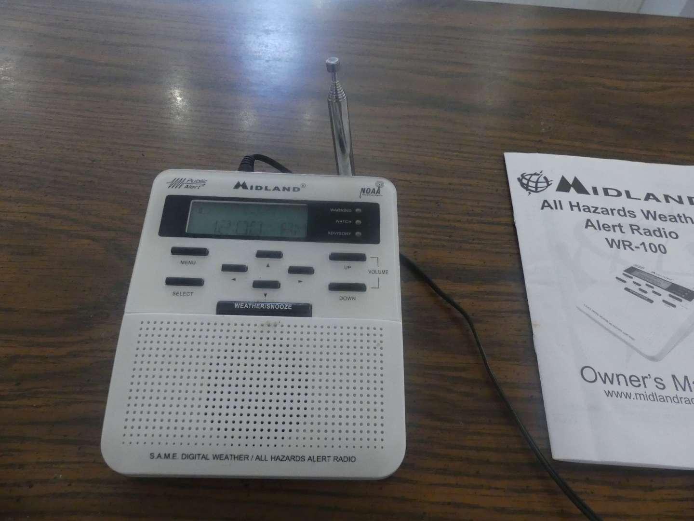 Lot #72 Midland WR-100 NOAA Public Alert Radio - 3AA Batteries Not Included