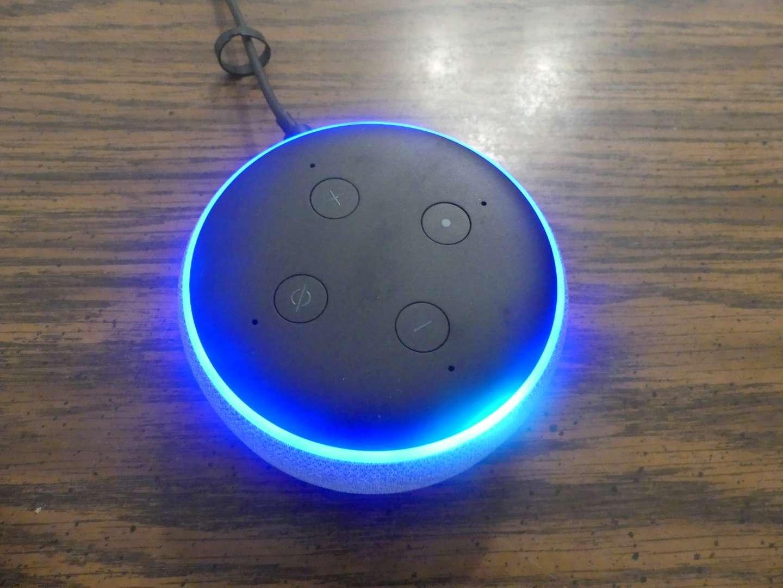 Lot #75 Amazon Echo Dot (3rd Generation) C78MP8 - Heather Gray