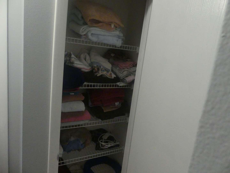 Lot #90 Closet of Towels and Stuff