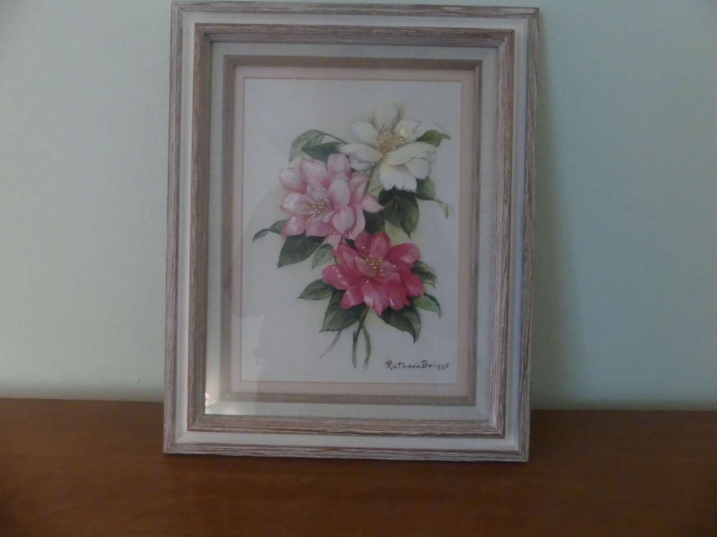 Lot #94 Signed/Framed Molded Plastic Decorated 3D Wall Art by Ruthann Briggs
