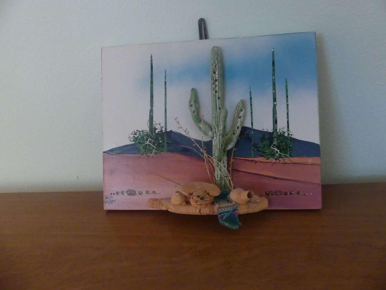 Lot #95 Signed Rich Miller 3D Desert Landscape