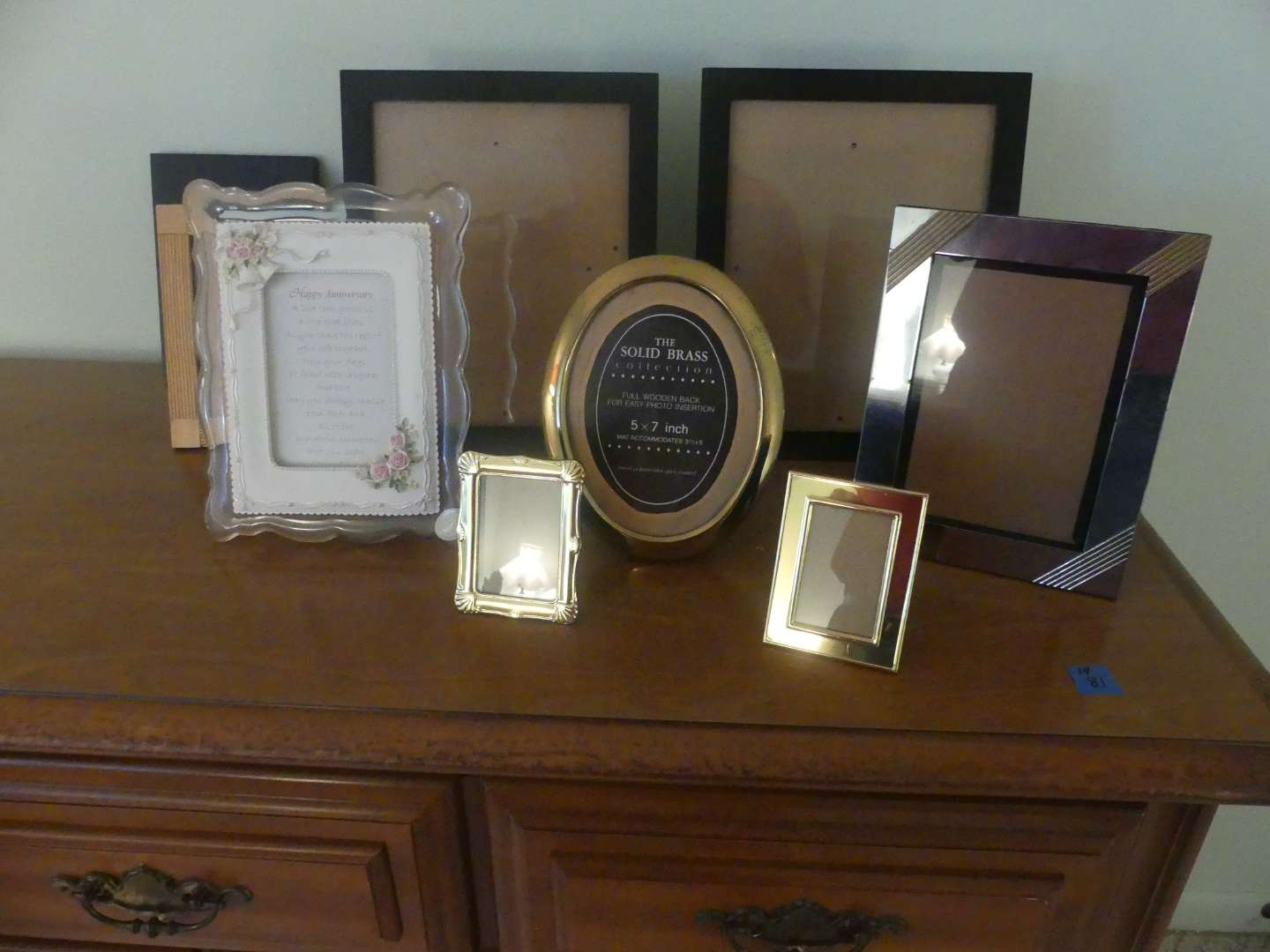 """Lot #99 Box of Picture Frames including 1 Musical Frame plays """"Anniversary Song"""""""