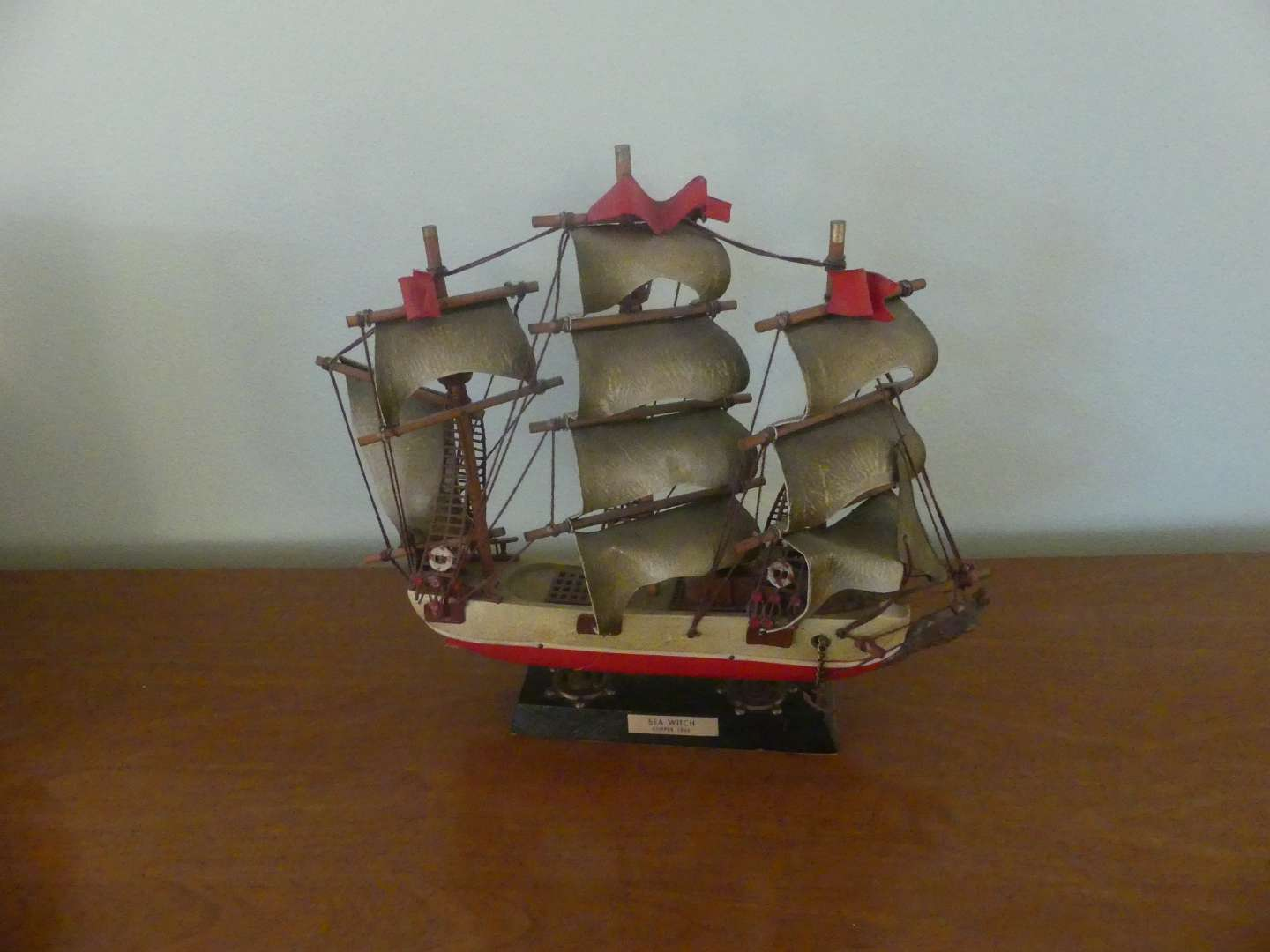"""Lot #106 Clipper Ship """"Sea Witch - 1846"""" Wooden Model Ship"""