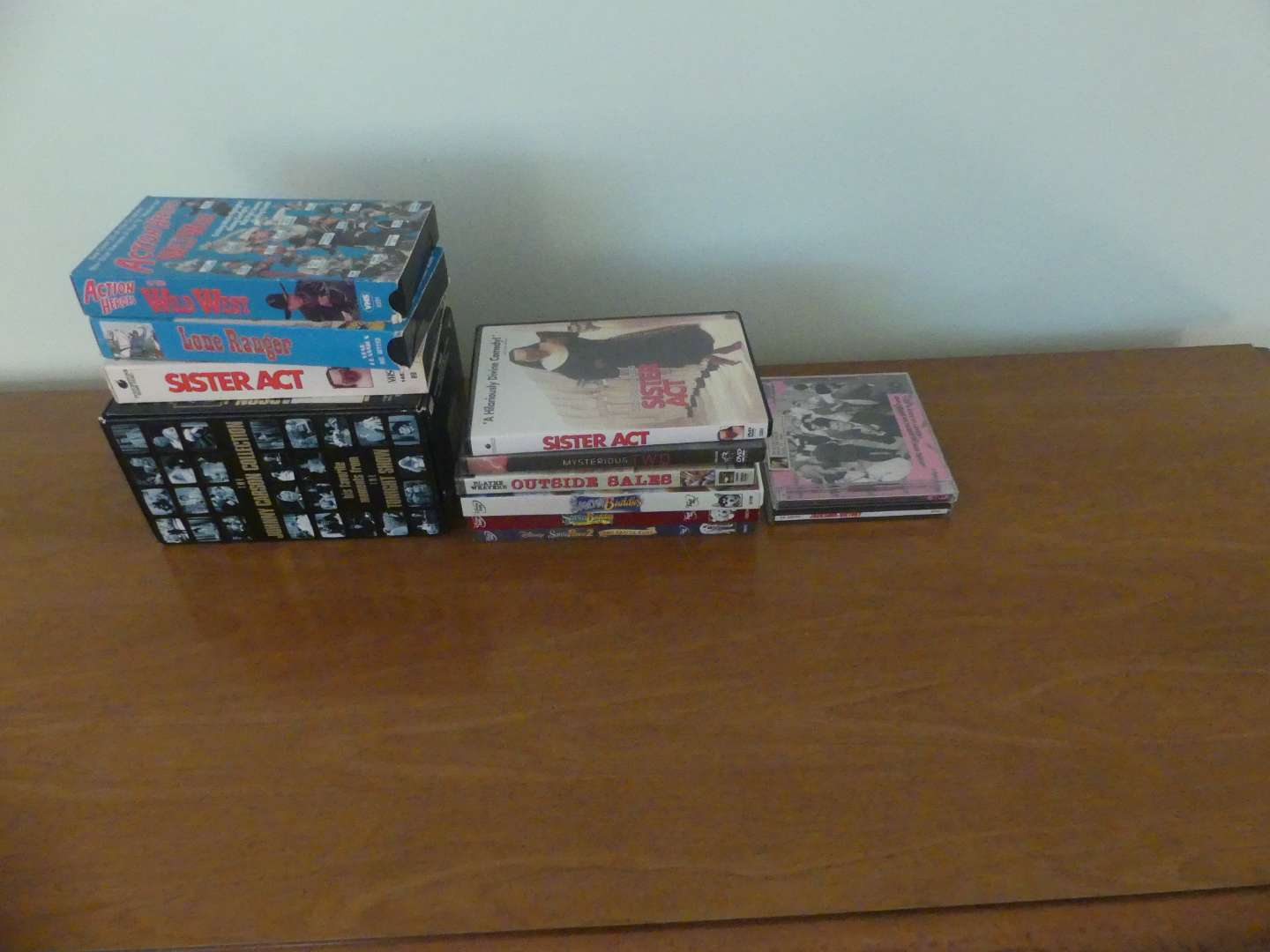 Lot #113 Lot of Media: VHS Tapes, DVDs and CDs