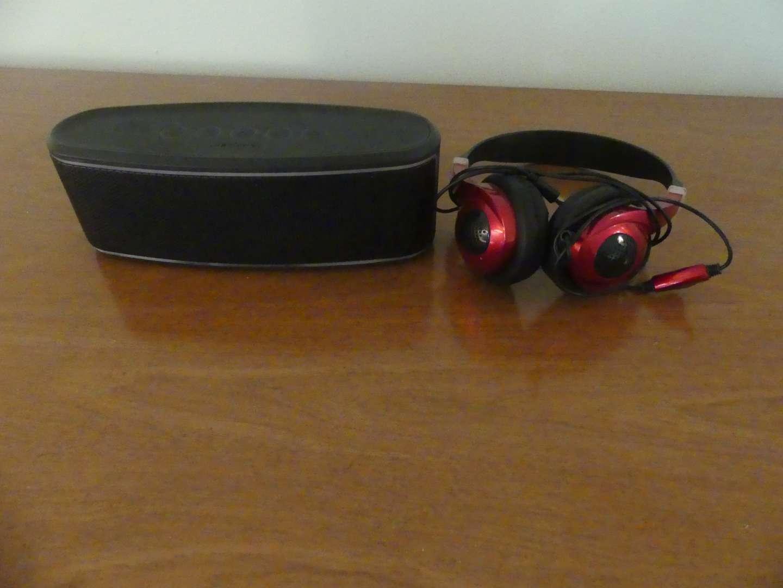 Lot #117 Blackweb Premium Bluetooth Speaker and Sentry Headart Headphones
