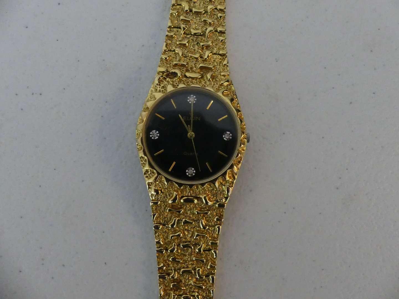 Lot #135 Vintage Elgin Ladies Gold Nugget Watch END05-017 2035