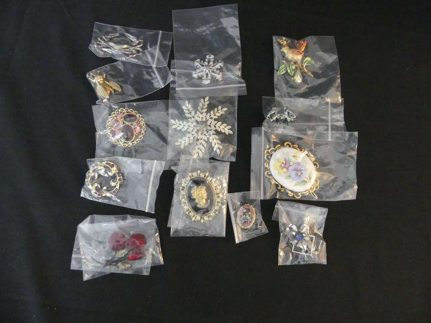 Lot #141 Lot of  Costume Pins and Brooches