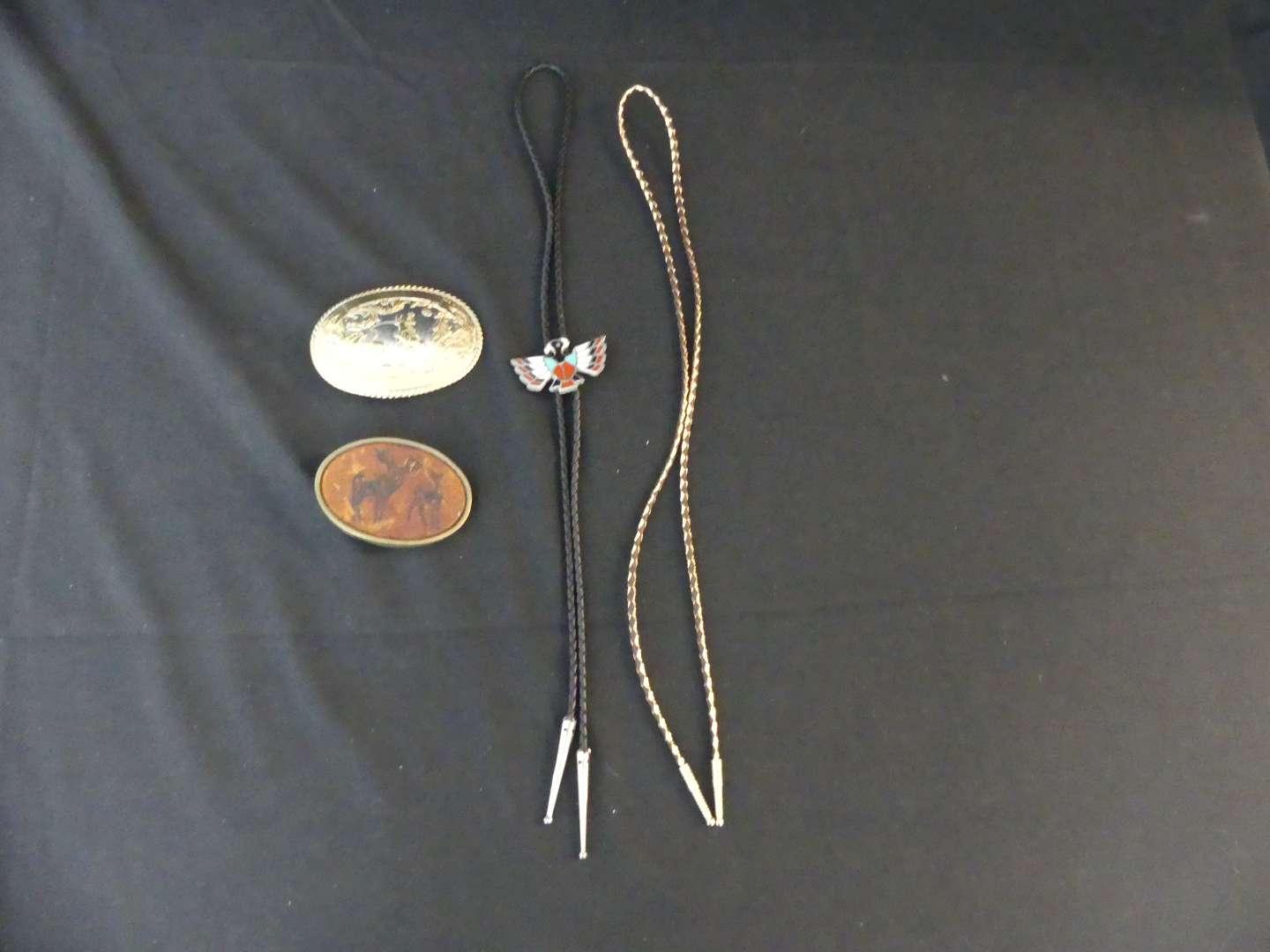 Lot #158 Belt Buckles and Bolo Ties