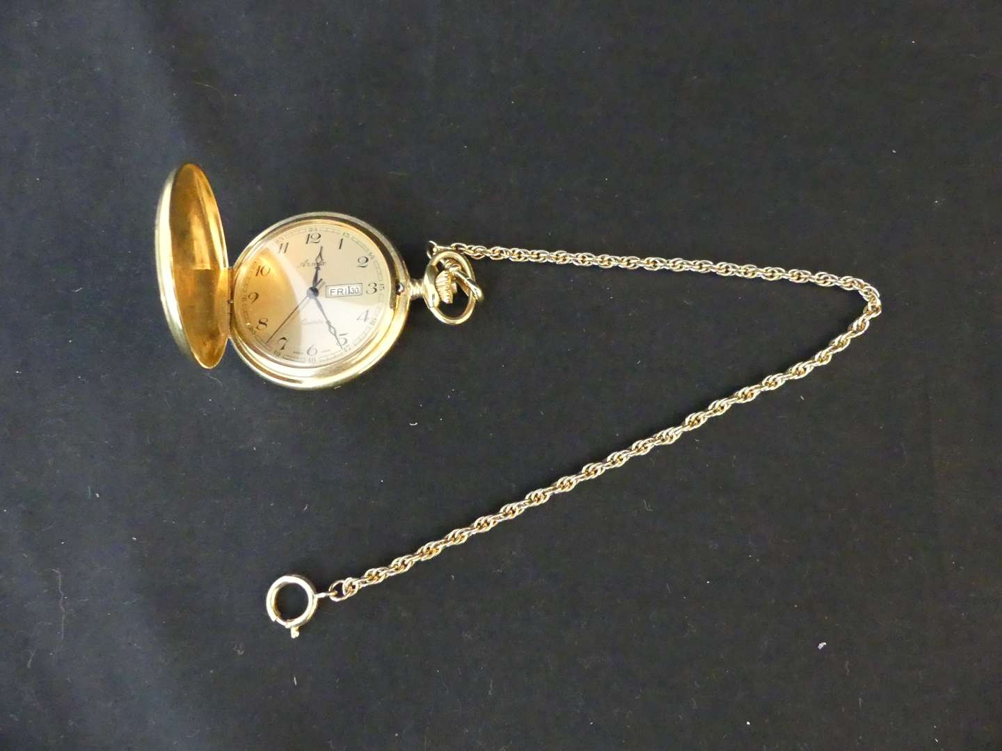 Lot #162 Arnex Swiss Quartz Beautifully Engraved and Detailed Pocket Watch