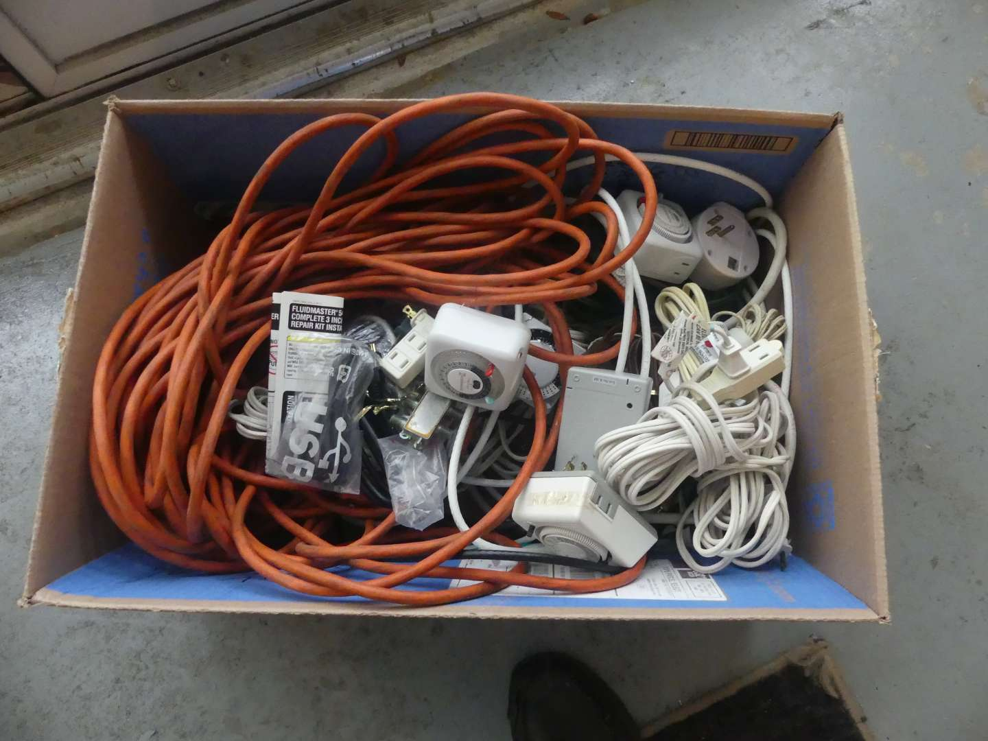 Lot #206 Box of Cables and Cords
