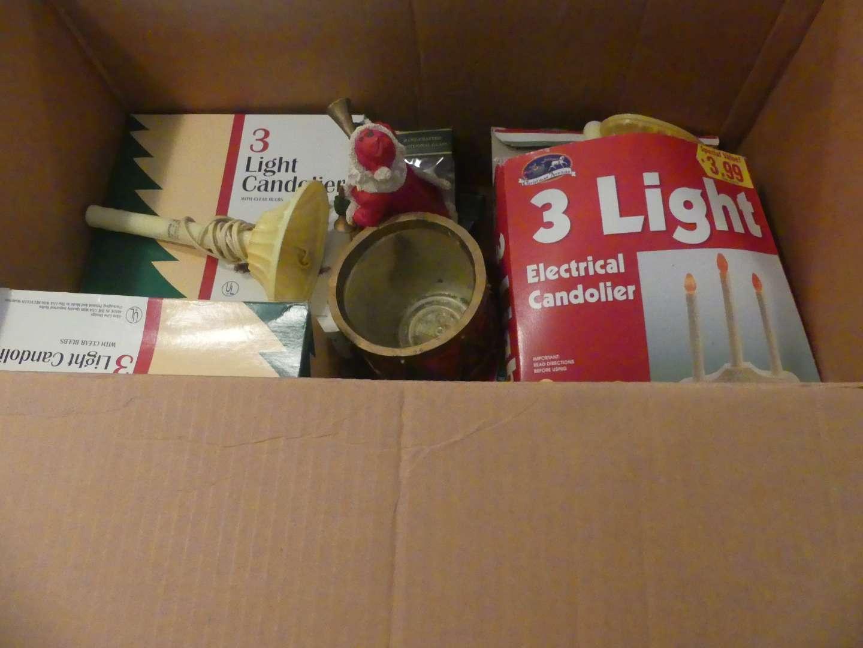 Lot #217 Christmas Lights, Ornaments and Decor