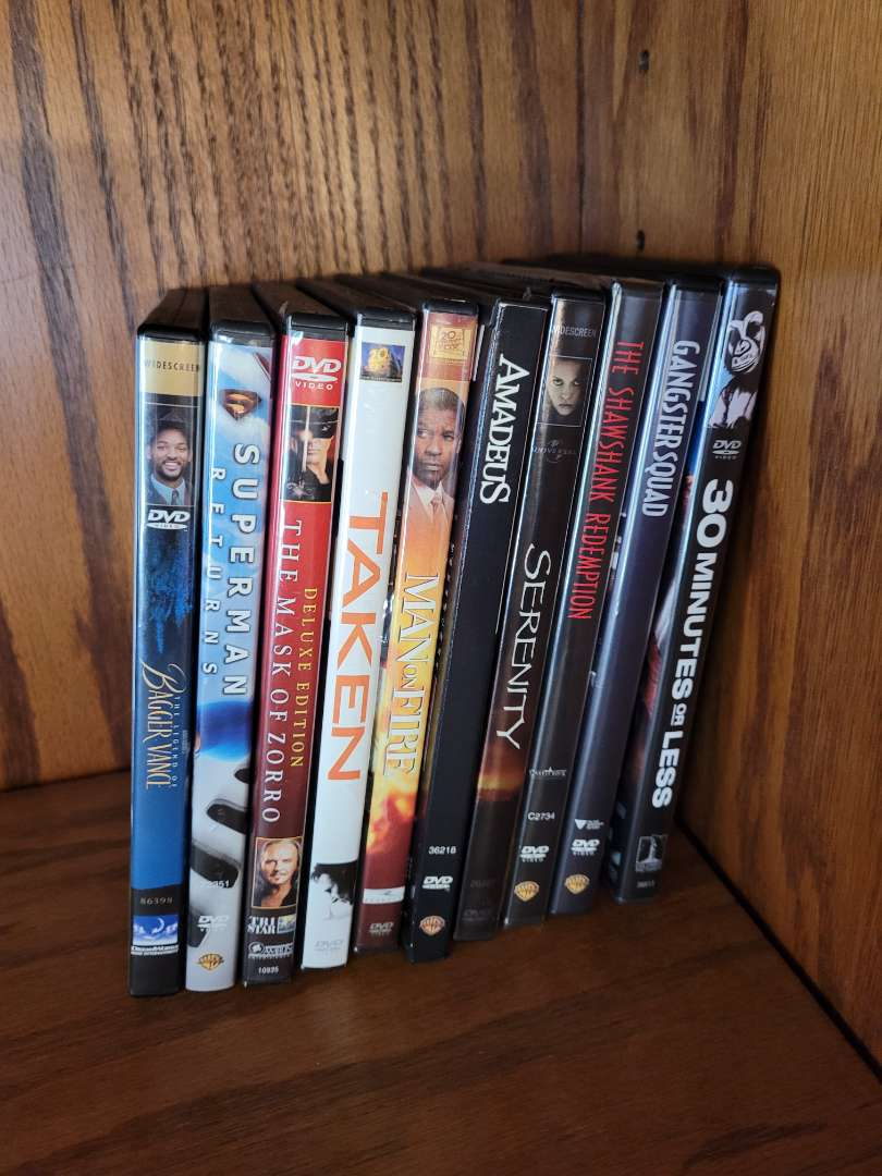Lot # 2 (10) DVDs