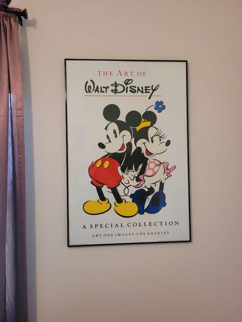Lot # 18 Mickey & Minney Framed Poster
