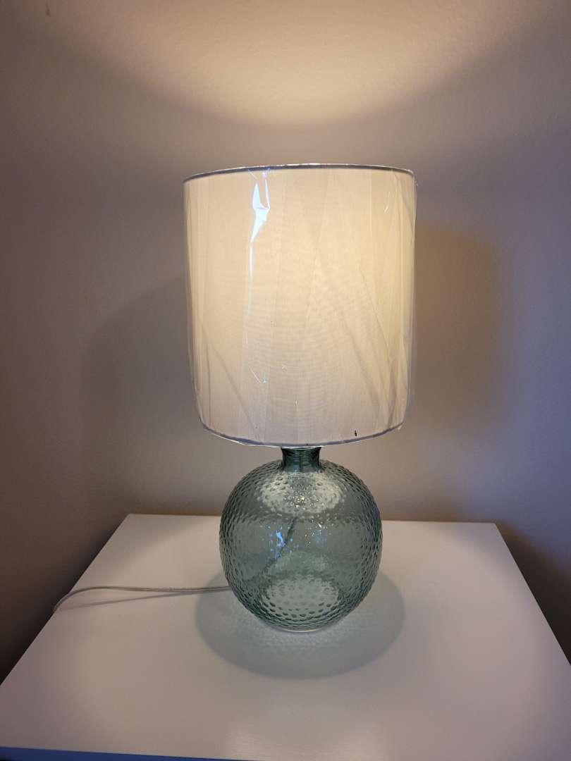 Lot # 22 Vintage Lamp w/ Glass Bottom