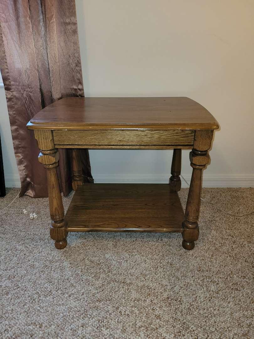 Lot # 23 Wood Side Table