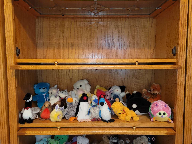 Lot # 24 Assorted Stuffed Animals & Beanie Babies