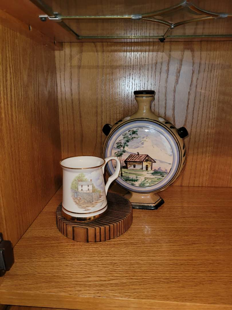 """Lot # 39 """" The Boat House"""" Cup & Decorative Bottle"""