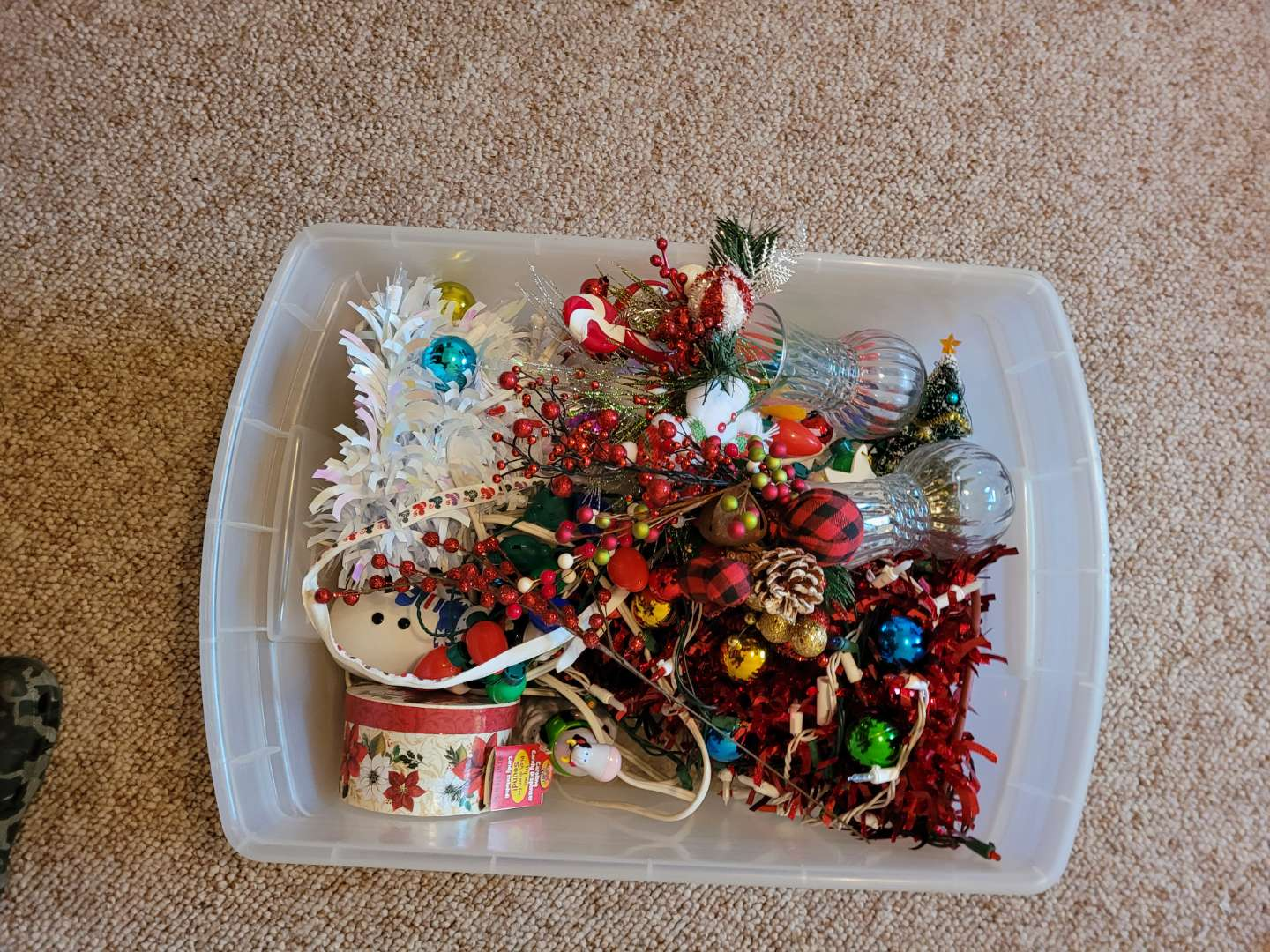 Lot # 61 (2) Tabletop Christmas Trees & More