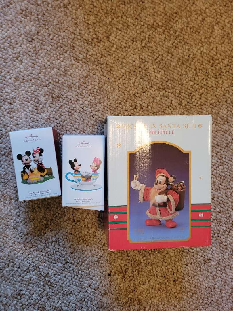 Lot # 67  (2) 2019 Hallmark Mickey Mouse Ornaments & Santa Mickey