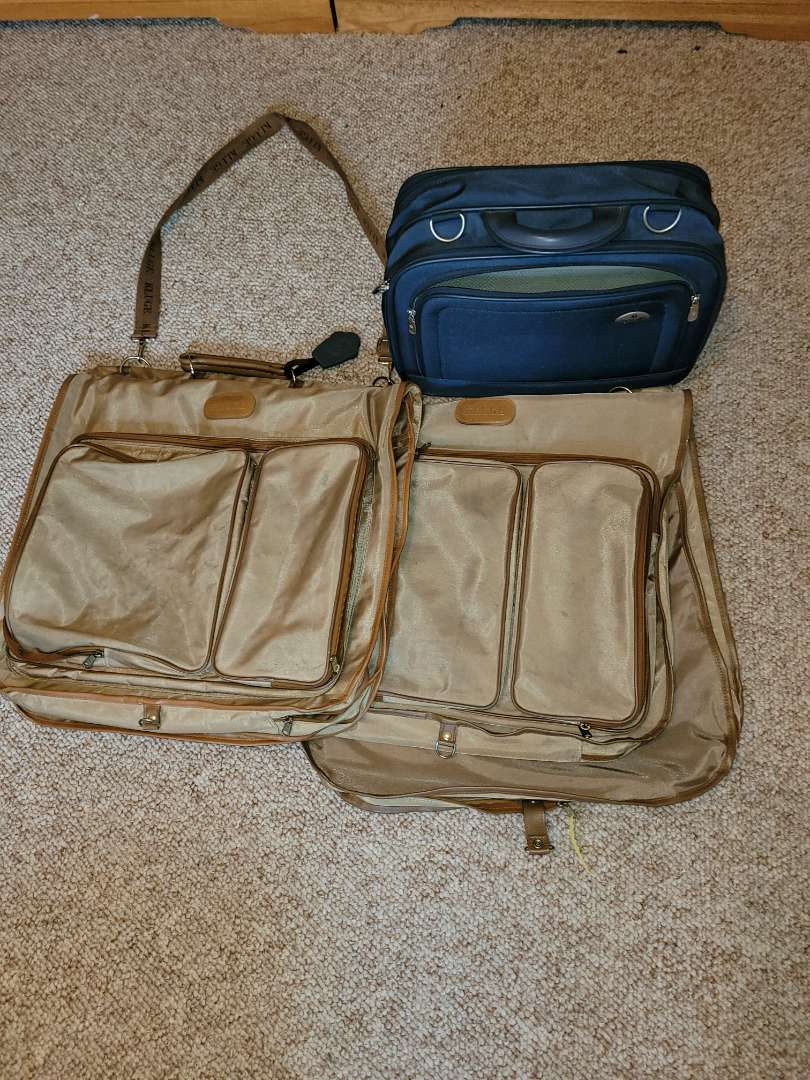 Lot # 73 (2) Kluge Garment Bags & Samsonite Carry On