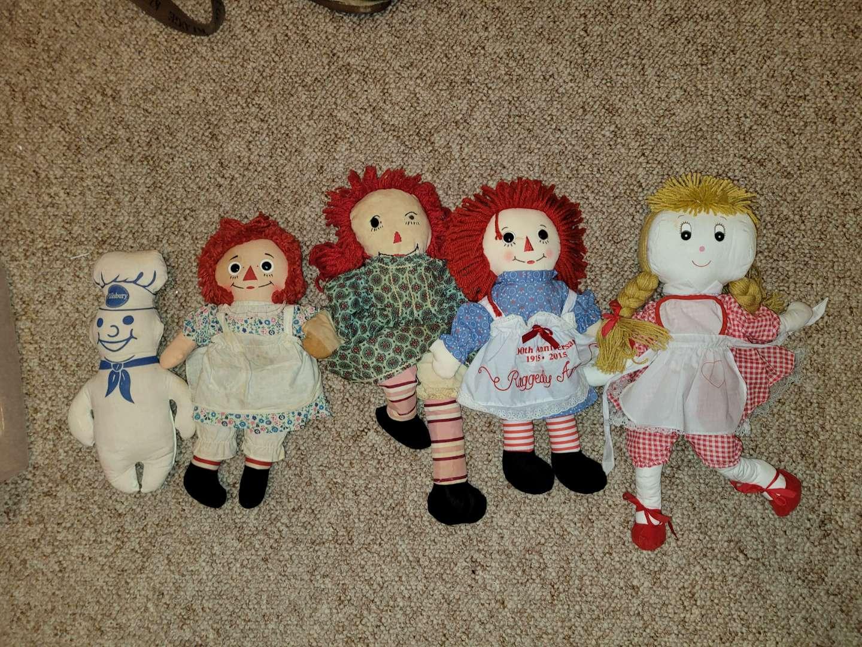 Lot # 87 Raggedy Ann Dolls & More